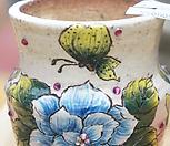 노란나비수제화분0013|Handmade Flower pot