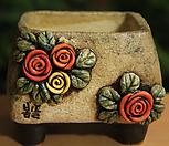 수제화분 사각분 03 Handmade Flower pot