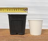 9cm 플라스틱화분 3호(10+1)(사각플분 파종분 플분)|