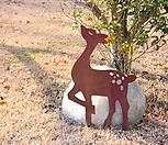 스틸데코 꽃사슴 (정원장식, 조형물, 정원소품, 정원꾸미기, 홈가드닝)|Echeveria still