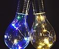 태양열전구蓝/白色的♥정원&베란다풍경이이국의노천카페처럼~♥태양열전구조명|