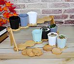 플아팔각花盆플라스틱花盆|