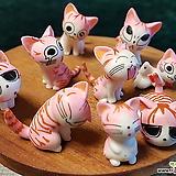 가든데코 분홍 고양이9종 