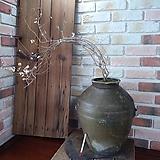 #미선나무-(녹유빛)고재항아리|