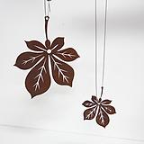 마로니에 나뭇잎 행잉철제장식|Echeveria Maronie