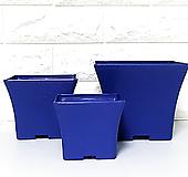 (블루) 수입 사각 플라스틱 화분 S/M/L (20+1) 플분|
