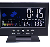 디지털 온습도계 고급형/탁상시계/다기능 세련된 디자인/충전가능 