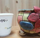 꽃이다공방手工花盆#64|Handmade Flower pot