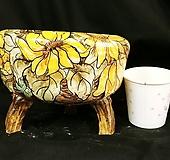 해바라기원형수제화분|Handmade Flower pot