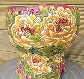 소향수제분 모란(전면그림/특대사이즈)|Handmade Flower pot