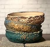 수제화분 낮은분(3color)|Handmade Flower pot