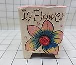 꽃이다공방 수제화분 꽃그림(큐빅분) #2391|Handmade Flower pot