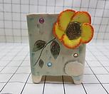꽃이다공방 수제화분 꽃(큐빅분) #2394|Handmade Flower pot