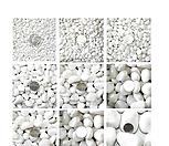 백자갈1kg/흰돌/자갈/옥돌/흑자갈/색돌/색모래/칼라스톤/조경/화산석/원예장식
