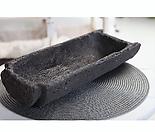 기와 화분 돌화분 화산석 화분 감성도예 - YXL - 특대형 - 둥근 직사각형 - 화산석(돌) 화분(기와 화분)