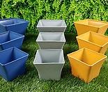 인테리어화분,인테리어사각화분,플라스틱화분,사각플라스틱화분,플분,사각플분,코발트,샌드브라운,그레이,튼튼화분