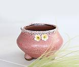 봄빛정원 보물항아리(인디핑크) - 최고급 수제 화분 작가도예-YM-중형-원형
