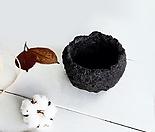 돌화산석 돌화분(소형2) - 최고급 수제 화분 작가도예-YS-소형2-원형