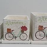 채색시멘트자전거정사각소품