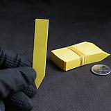 노랑 일자형 이름표(1.5x7cm/얇은/네임텍/약100개)