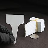 흰색 대 T형 이름표(4x7cm/얇은/네임텍/약100개)