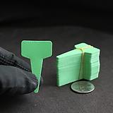 연두 T형 이름표(3x5cm/얇은/네임텍/약100개)