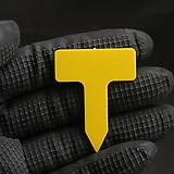 T형 이름표 3호 노랑 사각(3.5x4.5cm/네임텍/약100개)(동일품5+1)