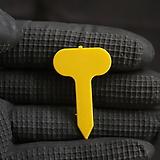 노랑 2호 타원형 이름표(2.5x4cm/네임텍/약100개)(동일품5+1)