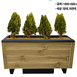 PE목재분/1000*500*500/밤색/도로화분/큰화분/직사각나무화분/택배별도|