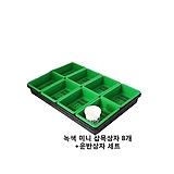 녹색미니삽목상자8개+운반상자 세트(플라스틱,플분)|
