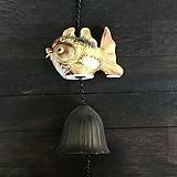 정다육디자인라인<도자기 물고기 도어벨(풍경)-고리스타일|