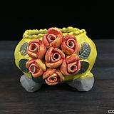 최고급장미조각국산수제화분-4305|Handmade Flower pot