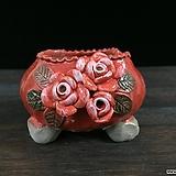 최고급장미조각국산수제화분-4308|Handmade Flower pot