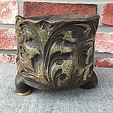 큰사이즈,최고급작가조각국산수제화분-2261|Handmade Flower pot