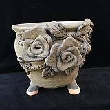 큰사이즈,꽃조각최고급국산수제화분-4102|Handmade Flower pot