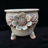 큰사이즈,꽃조각최고급국산수제화분-4105|Handmade Flower pot