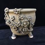 큰사이즈,꽃조각최고급국산수제화분-4106|Handmade Flower pot