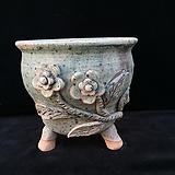 큰사이즈,꽃조각최고급국산수제화분-4107|Handmade Flower pot