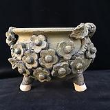 큰사이즈,꽃조각최고급국산수제화분-4110|Handmade Flower pot