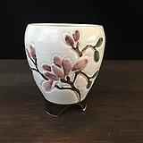백자작가최고급국산수제화분-4521|Handmade Flower pot