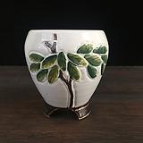 백자작가최고급국산수제화분-4539|Handmade Flower pot