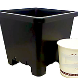 플분도매 플라스틱화분 12cm플분 3호1box(150개)|