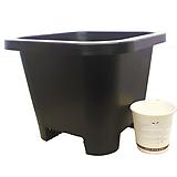 플분도매 플라스틱화분 23cm플분 6호1box(50개) 