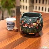 튤립11/옹기화분/국산수제화분/작가고급화분/호재/꽃보석큐빅
