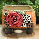 수제화분 봄날공방 사각낮은분|Handmade Flower pot