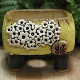 수제화분 봄날공방 낮은사각소분|Handmade Flower pot