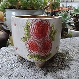 수제화분(장미그림)-할인판매|Handmade Flower pot