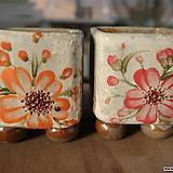 사각수제화분모듬셋트2종 Handmade Flower pot