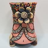 꽃이다공방 환원수제화분 꽃과리본(큐빅분) #2317|Handmade Flower pot