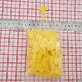 T자형 소형이름표(노란색100개)|